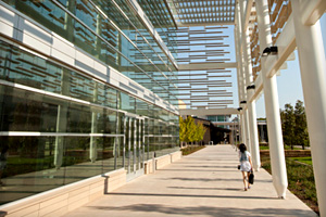 photo of Student Services Building entrance